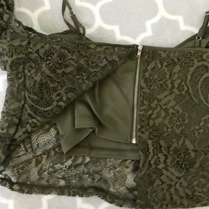Guess Tops - GUESS Green lace crop top